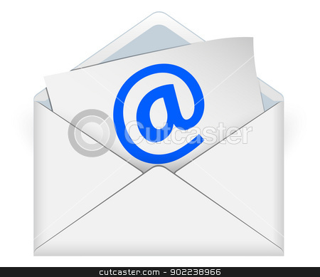 e-mail stock vector clipart, Concept of e-mail on a white background by Alfio Roberto Silvestro