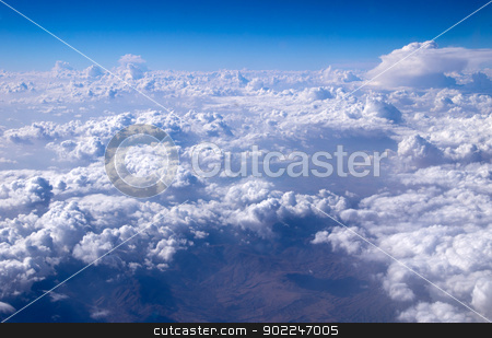 clouds background stock photo, Aerial sky and clouds background by Vitaliy Pakhnyushchyy