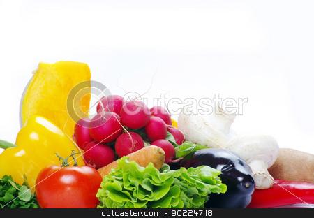 vegetables  stock photo, fresh vegetables on the white background by Vitaliy Pakhnyushchyy