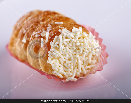 Pastry stock photo, Close up of pastry over a white background by Fabio Alcini