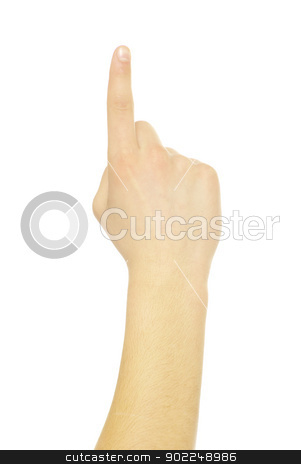 hand  stock photo, hand gestures isolated on a white  by Vitaliy Pakhnyushchyy