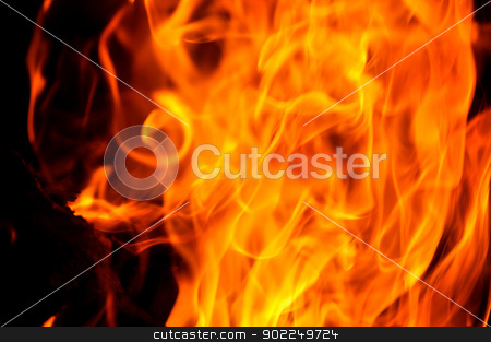 Campfire Flames stock photo, Campfire Flames by Liane Harrold