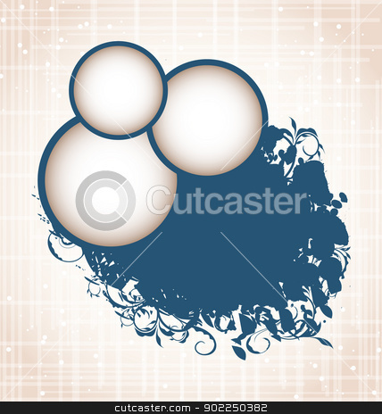 Speech bubbles abstract grunge background stock vector clipart, Illustration speech bubbles abstract grunge background - vector by -=Mad Dog=-
