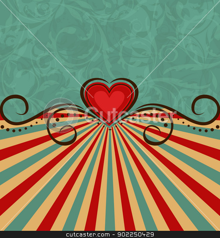 Valentine Day vintage background  stock vector clipart, Illustration Valentine Day vintage background - vector by -=Mad Dog=-