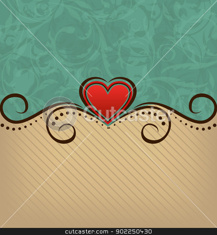 Valentine Day retro elegance background  stock vector clipart, Illustration Valentine Day retro elegance background - vector by -=Mad Dog=-