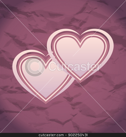 Valentine Day vintage background with hearts stock vector clipart, Illustration Valentine Day vintage background with hearts - vector by -=Mad Dog=-