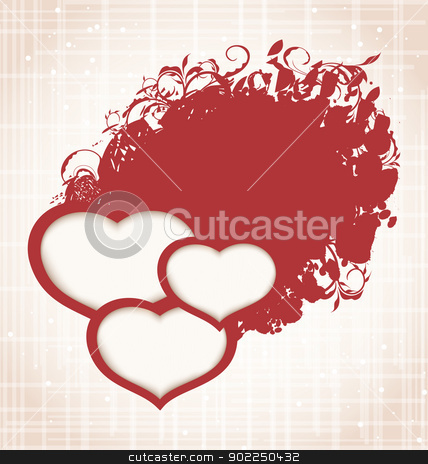 Valentine Day grunge background with hearts stock vector clipart, Illustration Valentine Day grunge background with hearts - vector by -=Mad Dog=-