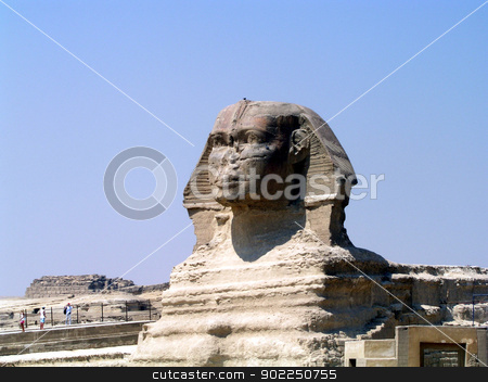 Sphinx and pyramid stock photo, sphinx and pyramid in Egypt      by otohime