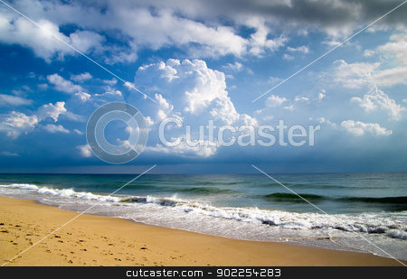 beach  stock photo, sand beach and blue sky by Vitaliy Pakhnyushchyy