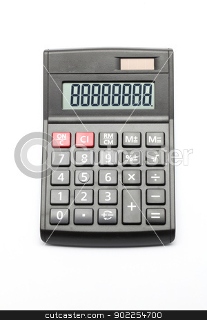 Calculator stock photo, Black Calculator on white background by Vichaya Kiatying-Angsulee