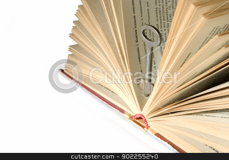 Key  and book stock photo, Key to knowledge it is book by Vitaliy Pakhnyushchyy