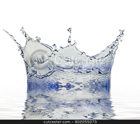 splash of water stock photo, Sparks of blue water on a white background by Vitaliy Pakhnyushchyy