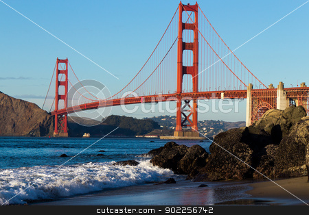Golden Gate Bridge  stock photo, Golden Gate Bridge by Click Images