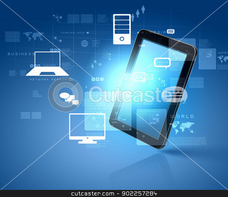 social network communication stock photo, social network, communication in the global computer networks by Sergey Nivens