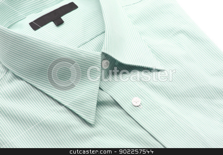 green business shirt stock photo, Close up view of a generic green business shirt with a line pattern by Vichaya Kiatying-Angsulee