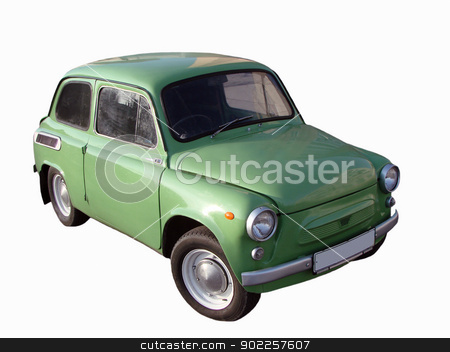 retro  car stock photo, Retro  car on a white background                                by Vitaliy Pakhnyushchyy