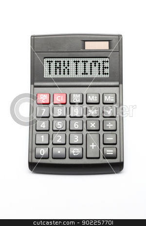 Tax Time stock photo, Business Tax Time on Calculator by Vichaya Kiatying-Angsulee