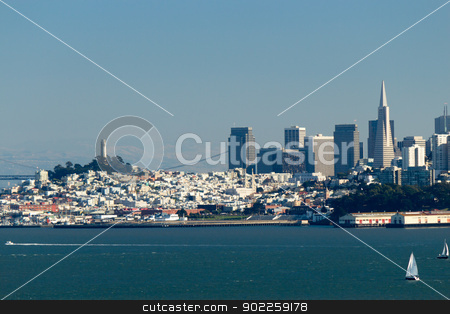 San Francisco Skyline stock photo, San Francisco Skyline by Click Images