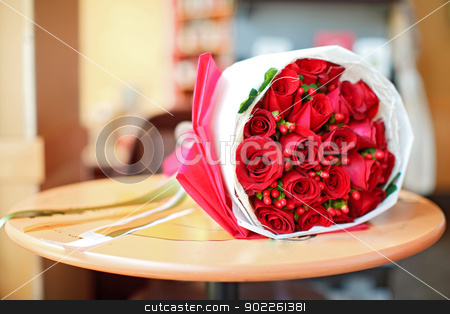 rose bouquet stock photo, rose bouquet using in wedding or any greeting ceremony by Vichaya Kiatying-Angsulee