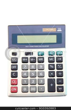 calculator in gray tones for tax stock photo, calculator in gray tones for tax by Vichaya Kiatying-Angsulee