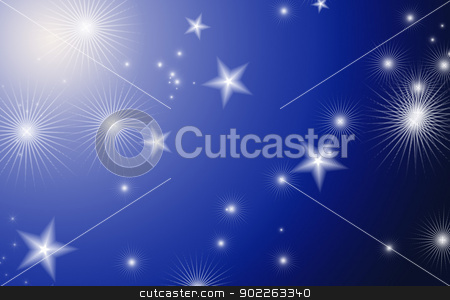sky with stars stock photo, blue background  with a stars by Vitaliy Pakhnyushchyy