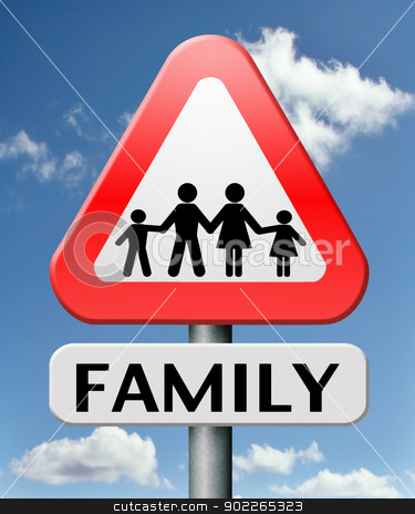 family stock photo, young family father mother son and daughter by Dirk Ercken