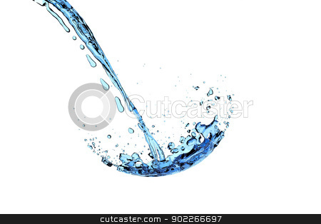 water splash stock photo, A water splash into an invisible glass by Markus Gann