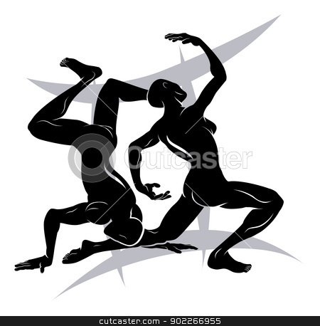 Gemini zodiac horoscope astrology sign stock vector clipart, Illustration of Gemini the twins zodiac horoscope astrology sign by Christos Georghiou
