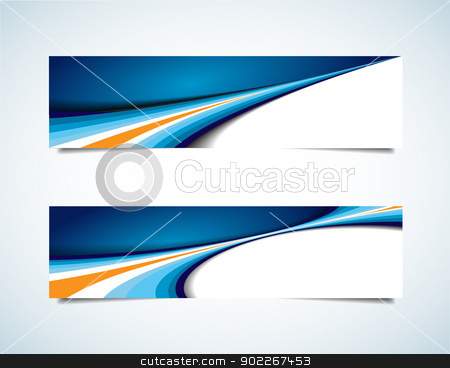 Abstract Headers stock vector clipart, This image is a vector file representing a collection of abstract headers. No mesh items or transparencies. Multiply blend mode on shadow. EPS 10 file. by Bagiuiani Kostas