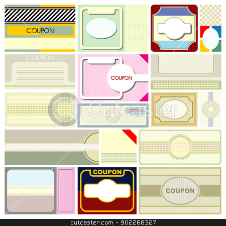 coupons stock vector clipart, design of coupons background by bobyramone