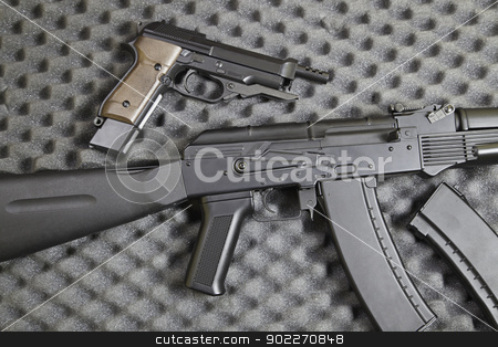 Weapons of War stock photo, Weapons of war, defense weapons detail, death and destruction by Sergio Barrios