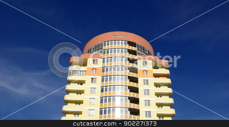 modern apartments building  stock photo, A modern apartments building viewed from an vinnitsa   by Vitaliy Pakhnyushchyy