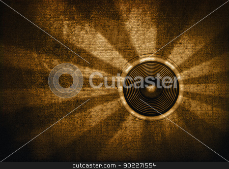 Brown retro starburst speaker stock photo, Brown textured retro starburst speaker by steve ball