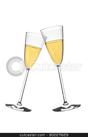 sparkling wine stock photo, An image of two glasses of sparkling wine by Markus Gann