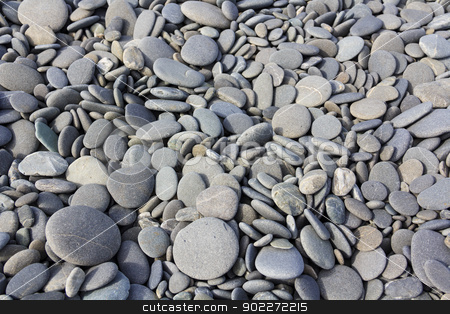 boulders texture stock photo, gray sea pebbles texture near the ocean by SkyLynx