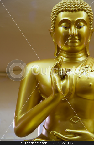 Buddha stock photo, Focus thumb hand of Buddha by narathorn