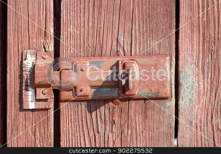 old locking system stock photo, old metal locking system on a wooden door by coroiu octavian