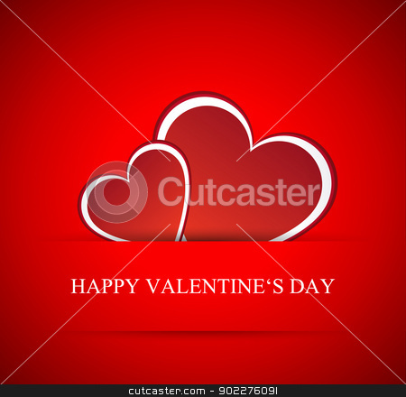 Vector hearts for Valentines day stock vector clipart, Holiday card. Vector hearts for Valentines day by kurkalukas