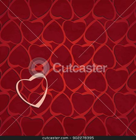 heart background stock vector clipart, new modern background with hearts can use like holiday wallpaper by metrue