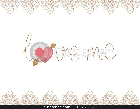 Valentine love me background stock vector clipart, Valentine day love me concept isolated background. Vector illustration layered for easy manipulation and custom coloring. by Cienpies Design