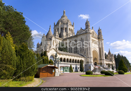 Basilica of Lisieux (Normandy, France) stock photo, Basilica of Lisieux in Normandy, France by Laurent Renault