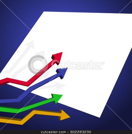 Presentation stock vector clipart, Background with arrow chart and white space for text by dayzeren