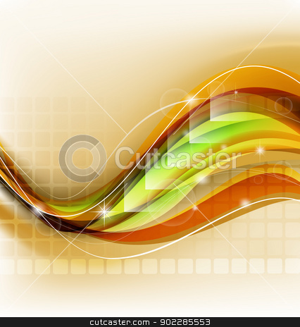Abstract background template stock vector clipart, Abstract background template art vector illustration with various creative elements by Maria Repkova