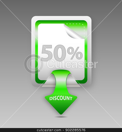 Discount square label/sticker stock vector clipart, Design of vector discount square label/sticker by Maria Repkova