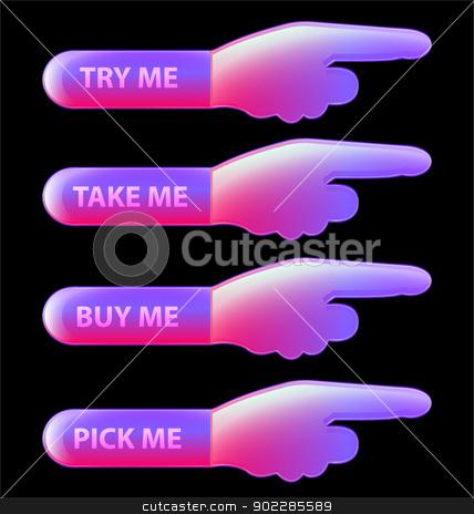 Glossy web button collection stock vector clipart, A creative collection of glossy web buttons by Maria Repkova