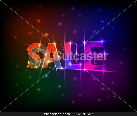 sale  stock vector clipart, sale text in abstract background by byman designs