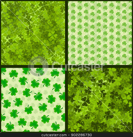 Seamless St. Patrick's Collection stock vector clipart, Collection of seamless patterns for St. Patrick's day by wingedcats