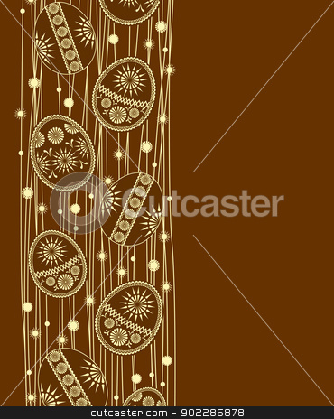 Easter eggs stock vector clipart,  Easter eggs decoration on  brown background by Miroslava Hlavacova