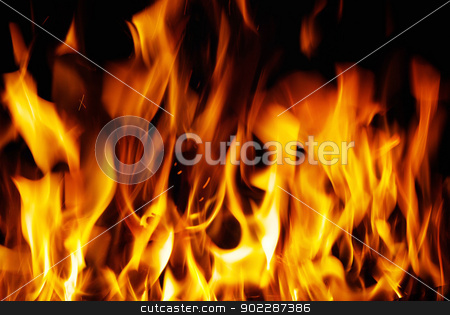 fire  stock photo, A nice fire in a fire place   by Vitaliy Pakhnyushchyy