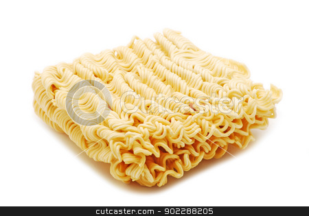 Asian noodles stock photo, Asian noodles on white background by Iliuta